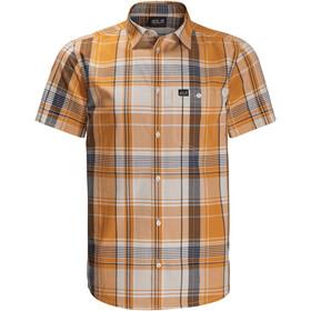 Jack Wolfskin Little Lake SS-skjorte Herrer, orange/grå